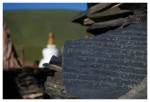 kamień mani i czorten świątyni wQumalai