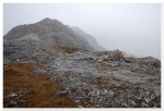 śnieżyca na przełęczy powyżej MlecznegoJeziora