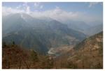 widok na Dolinę Nujiang z drogi doDimaluo